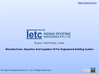 Pre Engineered Building System Suppliers in Coimbatore