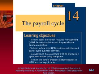 The payroll cycle