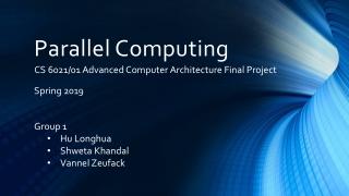 Parallel Programming Models