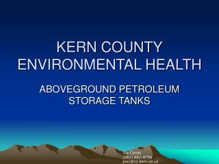 KERN COUNTY ENVIRONMENTAL HEALTH