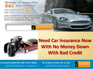 Cheap Auto Insurance With No Money Down
