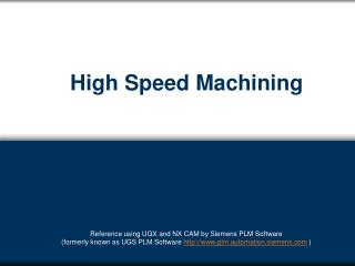 High Speed Machining