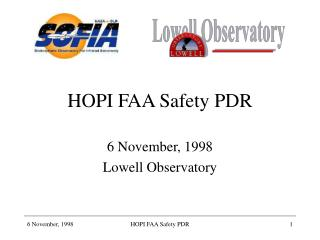 HOPI FAA Safety PDR
