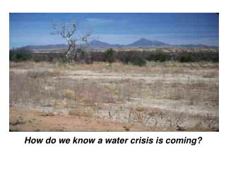 How do we know a water crisis is coming?