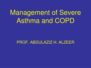 Asthma Management Pathophysiology and Management