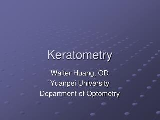 Keratometry