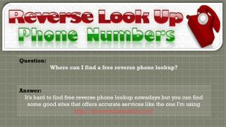 Where to Conduct Reverse Phone Lookup