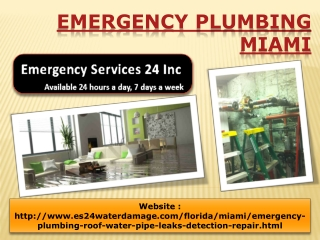 Emergency Plumbing Miami