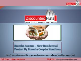 Buy Your Dream Home in Kondhwa -  Bramha Avenue