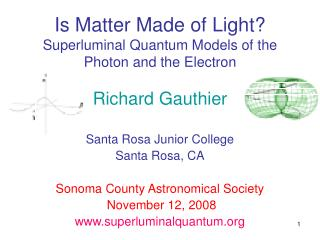 Is Matter Made of Light? Superluminal Quantum Models of the Photon and the Electron