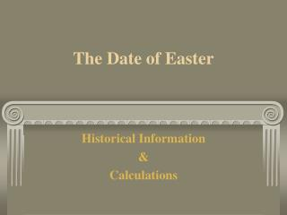 The Date of Easter