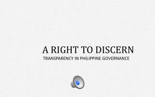 PH Transparency and Governance Vid Series 1
