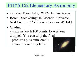 PHYS 162 Elementary Astronomy