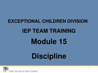 IEP TEAM TRAINING
