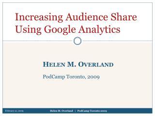 Helen M. Overland PodCamp Toronto, 2009
