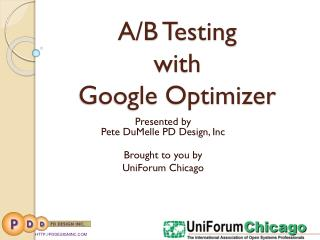 A/B Testing  with  Google Optimizer