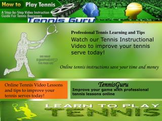 Online Tennis Video Lessons