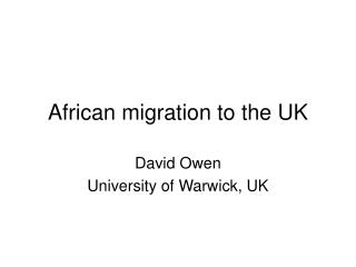 African migration to the UK