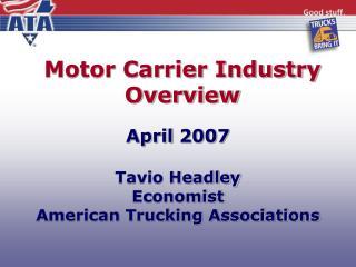 Motor Carrier Industry Overview