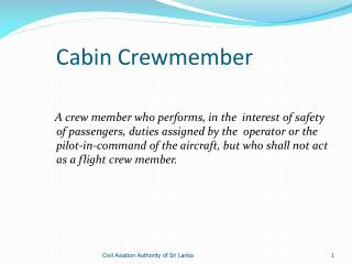 Cabin Crewmember