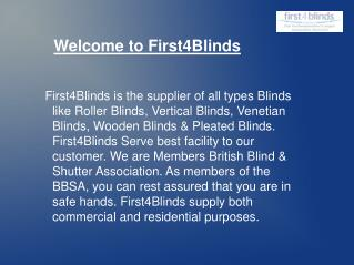 Blinds services in Northampton, UK
