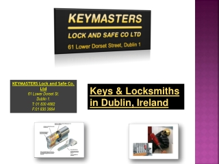 Keys & Locksmiths in Dublin, Ireland