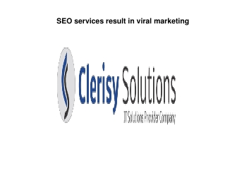 SEO services result in viral marketing