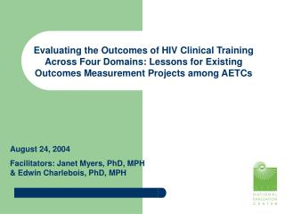 Evaluating the Outcomes of HIV Clinical Training Across Four Domains: Lessons for Existing Outcomes Measurement Projects