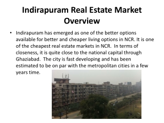 An OverView Of Indirapuram Real Estate