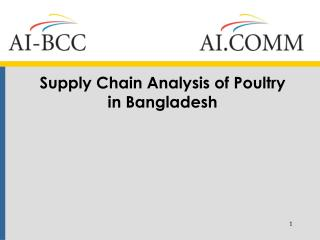 Supply Chain Analysis of Poultry in Bangladesh