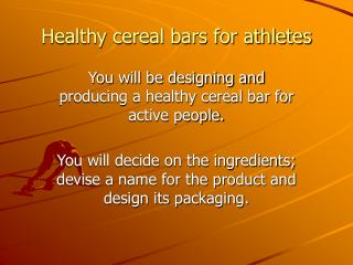 Healthy cereal bars for athletes