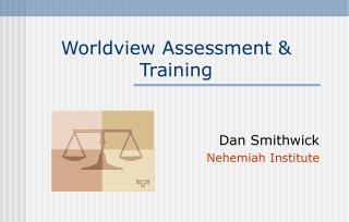 Worldview Assessment & Training