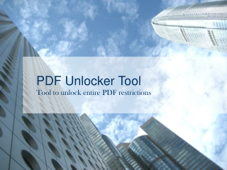 Unlock PDF files