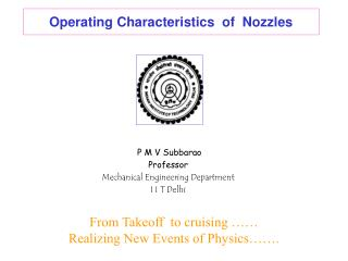 Operating Characteristics  of  Nozzles