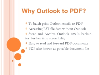 PST to PDF Conversion Carry Out to Print Outlook Emails into