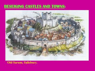 BESEIGING CASTLES AND TOWNS :