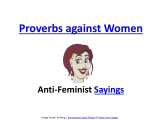 Proverbs against woman