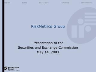 RiskMetrics Group
