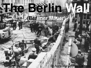 The Berlin  Wall (Ber liner Mauer)