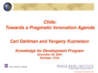 ©Knowledge for Development, WBI