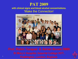 PAT 2009 with clinical signs and blood alcohol concentrations.    Make the Connection