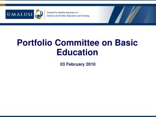 Portfolio Committee on Basic Education