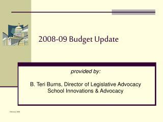 2008-09 Budget Update