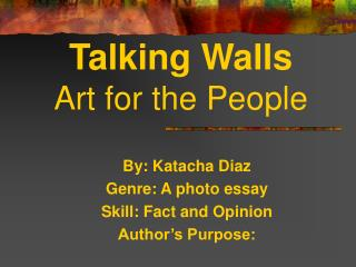 Talking Walls Art for the People
