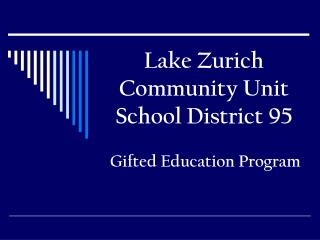Lake Zurich Community Unit School District 95