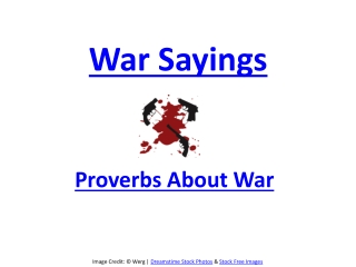 proverbs about War