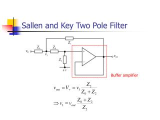 Sallen and Key Two Pole Filter