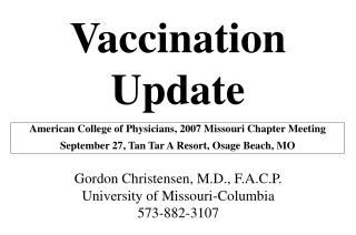 Vaccination Update