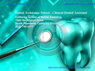 Clinical Training of Dental Assistants | Clinical Dental Ass