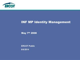 INF MP Identity Management